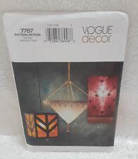 VOGUE DECOR - 3 FABRIC LAMP PATTERNS - NEW