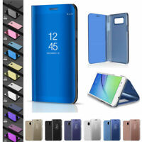 For Samsung Galaxy J3 J4 J5 J6 J7 J8 2017/2018 Mirror View Case Flip Smart Cover
