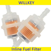 2 x Universal Petrol Inline Fuel Filter LARGE Car Part Fit 6mm Pipes