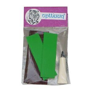Opttiuuq FrontFoot Cricket Bat Toe Guard Repair Kit Set. Fluo Green