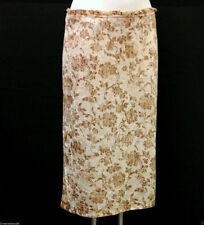 Gonne e minigonne da donna marrone floreale