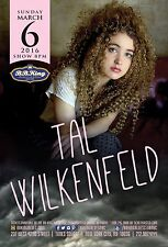TAL WILKENFED 2016 NEW YORK CONCERT TOUR POSTER - Jazz Fusion, Blues-rock Music