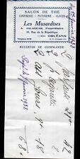 """ORLEANS (45) CONFISERIE / SALON DE THE """"LES MUSARDISES / A. JALAGEAS"""" en 1938"""