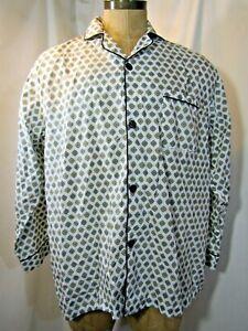 BROOKS BROTHERS Long Sleeve Length Pajama Shirt Size large