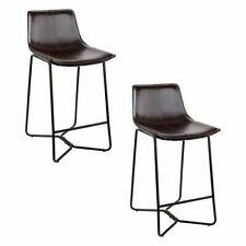 Artiss BA-TW-8012-BKX2 PU Leather Dining Chair - Walnut, 2 Chairs