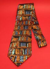 Library Books Silk Tie NEW End of Term English Teacher Lecturer Liberian Gift