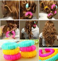 Magic DIY Tool Hairdresser Bendy Hair Styling Roller Curler Spiral Curls 8 Pcs