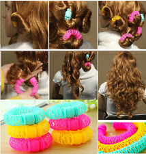 Hairdress Magic Bendy Hair Styling Roller Curler Spiral Curls DIY Tool  8Pcs OQ