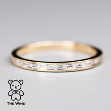 Invisible Setting Baguette Diamond Essential Ring 14K Yellow Gold Wedding Band