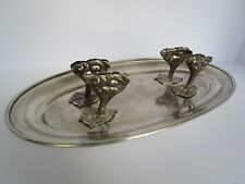 Vintage Silver Metal Fowl Grouse Bird Duck Pheasant Serving Dish Platter
