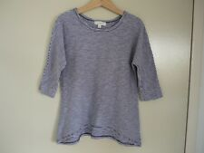 WITCHERY GIRLS NAVY & WHITE 3/4 SLEEVE TOP /SHIRT -EUC - $4 POST… SIZE 6