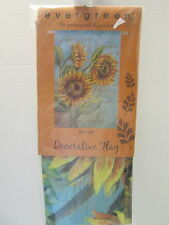 Golden Sunflowers Decorative Flag by Evergreen, Hand-Painted, NIP