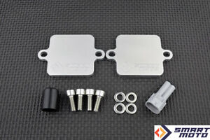 PAIR AIS Valve Removal kit with SMOG Block Off plates Z750 Z750R 2007-2014