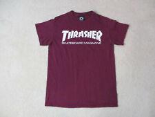 Thrasher Magazine Shirt Adult Small Red White Skater Skateboard Skating Mens