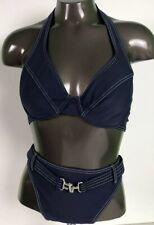 Baltex Women's Top And Bottom Two piece Blue Bikini Size 10