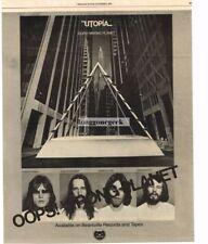 1977 Utopia Oops Wrong Planet Vtg Album Promo Print Ad Todd Rundgren