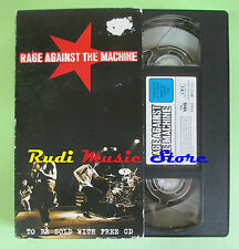 VHS RAGE AGAINST THE MACHINE 1997 SMV 501602 75 minuti no cd mc dvd lp(VM8)