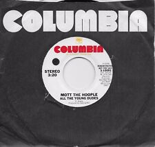 MOTT THE HOOPLE  All the Young Dudes  rare promo 45 from 1974
