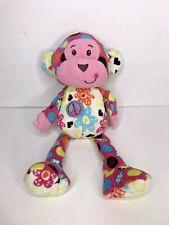 """Mary Meyer Monkey Peace Pink Pizzazz 12"""" Stuffed Animal plush"""
