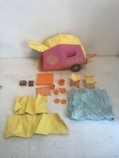Mattel 1972 Barbie Goin Camping Pop Up Camper with extras.