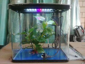 S400 mini fish tank aquarium with LED light