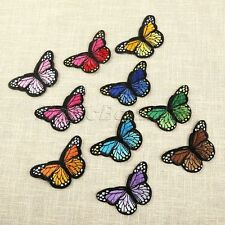 10pc Fabric Colorful Butterfly Sewing Iron on Patches Embroidered Badge Applique