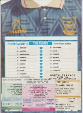 PORTSMOUTH V NOTTINGHAM FOREST FA CUP 6TH ROUND 1992 ORIG TICKETS X 3 + T SHEET