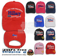 ddad8e28bc6 Hillary For President Signature 3D Embroidered Adjustable Baseball Hat