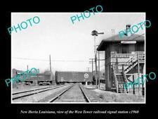 OLD 6 X 4 HISTORIC PHOTO OF NEW IBERIA LOUISIANA W/T RAILROAD SIGNAL TOWER 1960
