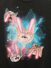 Flying Lazer Cat Galaxy Graphic Animal T Shirt Tee Death Kitty Galaxy Unique