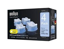 Braun Clean and Renew 4 Pack, Cartridge, Refill, Replacement Cleaner CCR4