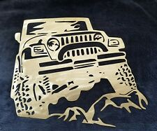 Jeep on Rocks Metal Wall Art - outdoors, mancave, mantique, 4X4, decor