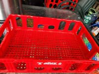 Coke Coca Cola Red Molded Plastic Crate Bottle Carrier