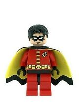 Custom Minifigure Robin with Red Torso and Legs Batman Printed on LEGO Parts