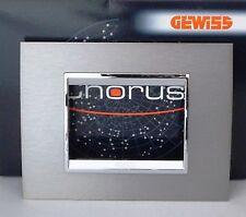 GEWISS GW 16203MI CHORUS LUX PLACCA 3P METALLO INOX SPAZZOLATO