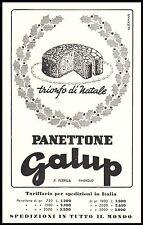 PUBBLICITA' 1955 PANETTONE GALUP FERRUA PINEROLO TRIONFO DOLCE RAFFINATO NATALE