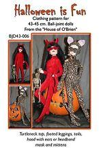 BJD43006 Halloween is Fun pattern for BJD, MSD, ball joint dolls