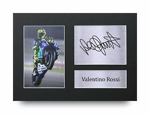 Valentino Rossi Signed A4 Framed Printed Autograph Print MotoGP Superbikes Gift