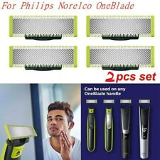 2 Pack Steel Replacement Electric Blade For Philips Norelco OneBlade