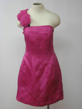 33aa7b32192 PHOEBE COUTURE Silk Pink Strapless Mini Dress 12 NEW  310