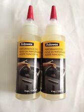 Fellowes Shredder Lubricant Oil for Micro Cut and Cross Cut Shredders 2x 120 Ml