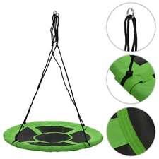 vidaXL Swing 110cm Green Nest Rope Swing Spider Web Net Outdoor Garden Seat