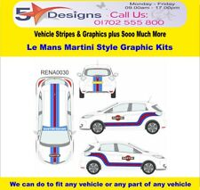 RENAULT Zoe 2013-14 Le Mans Martini Race Rally Logo Graphics Kit 30