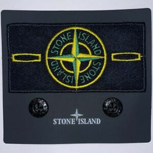 STONE ISLAND BADGE - Ricambio Originale Patch Stone Island BADGE Toppa + Bottoni