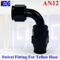 AN12 12 AN AN 90° Degree Hose End Fitting PTFE E85 Ethanol Fuel Line Adapter