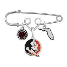 Florida State Seminoles Home Sweet Home Silver State Pin Brooch Jewelry FSU