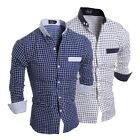 Stylish Men's Slim Fit Long Sleeve Formal Dress shirt Casual Shirts Tops Luxury