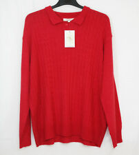 LADIES RED KNITTED JERSEY SIZE 28/30