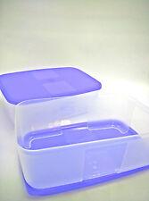 New Tupperware 2X FreezerMate Medium II 1.5L Freezer Mate Clear with Purple Lids