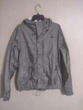 Sierra Designs Hooded Gray/Green Lightweight Rain Jacket Coat - Men's Medium M